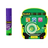 Scotch Combo Pack with Magic Tape Character Theme Dispenser Pack and Purple Glue Stick 15g