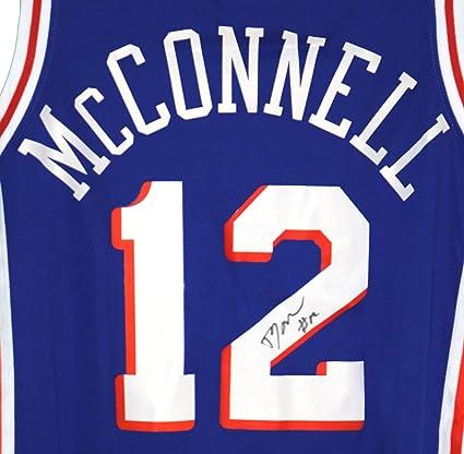 T.J. McConnell Philadelphia 76ers Signed Autographed Blue  12 Jersey Size M c780b4d68
