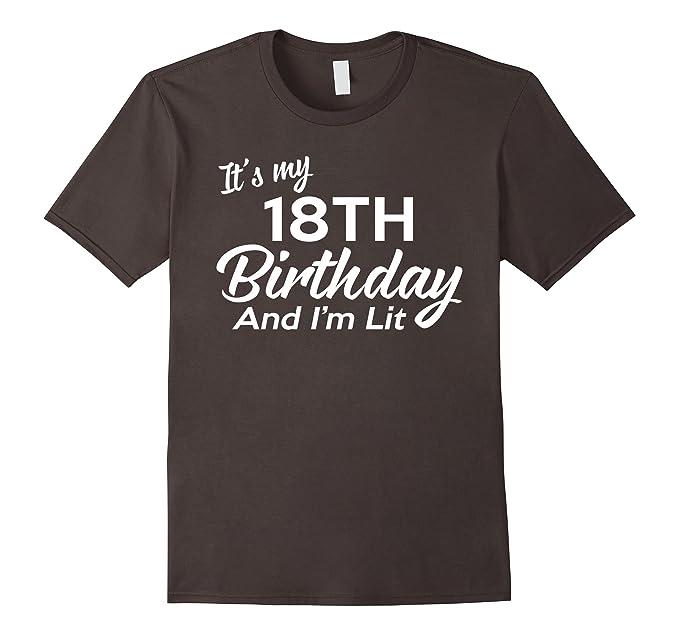 Mens 18th Birthday Gift Ideas For Her Him 18 Year Old Shirt 2XL Asphalt