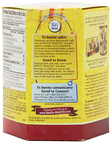 Amazon.com : Nestle Mexican Chocolate Abuelita Drink Mix, 6 Tabs in 19-Ounce Package (Pack of 6) : Hot Cocoa Mixes : Grocery & Gourmet Food
