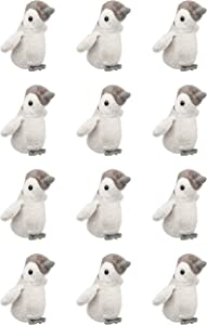 Wildlife Tree 12 Pack Baby Penguin Mini 4 Inch Small Stuffed Animals, Bulk Bundle Zoo Animal Toys, Arctic Party Favors for Kids