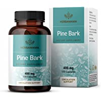 Pine Bark 100 Capsules 500 mg   Filled with Pine Bark Extract   Supports Heart Health   Max Potency   Blood Pressure…