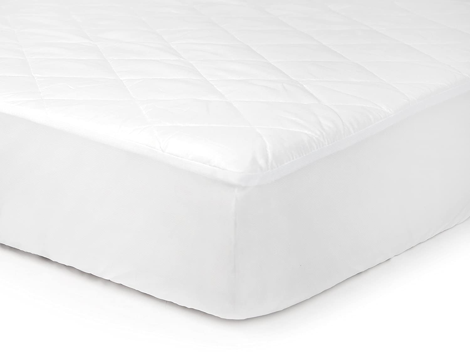 Tadpoles Waterproof Fitted Crib and Toddler Protective Mattress Pad Cover, White Sleeping Partners Int'l BMCBQT009