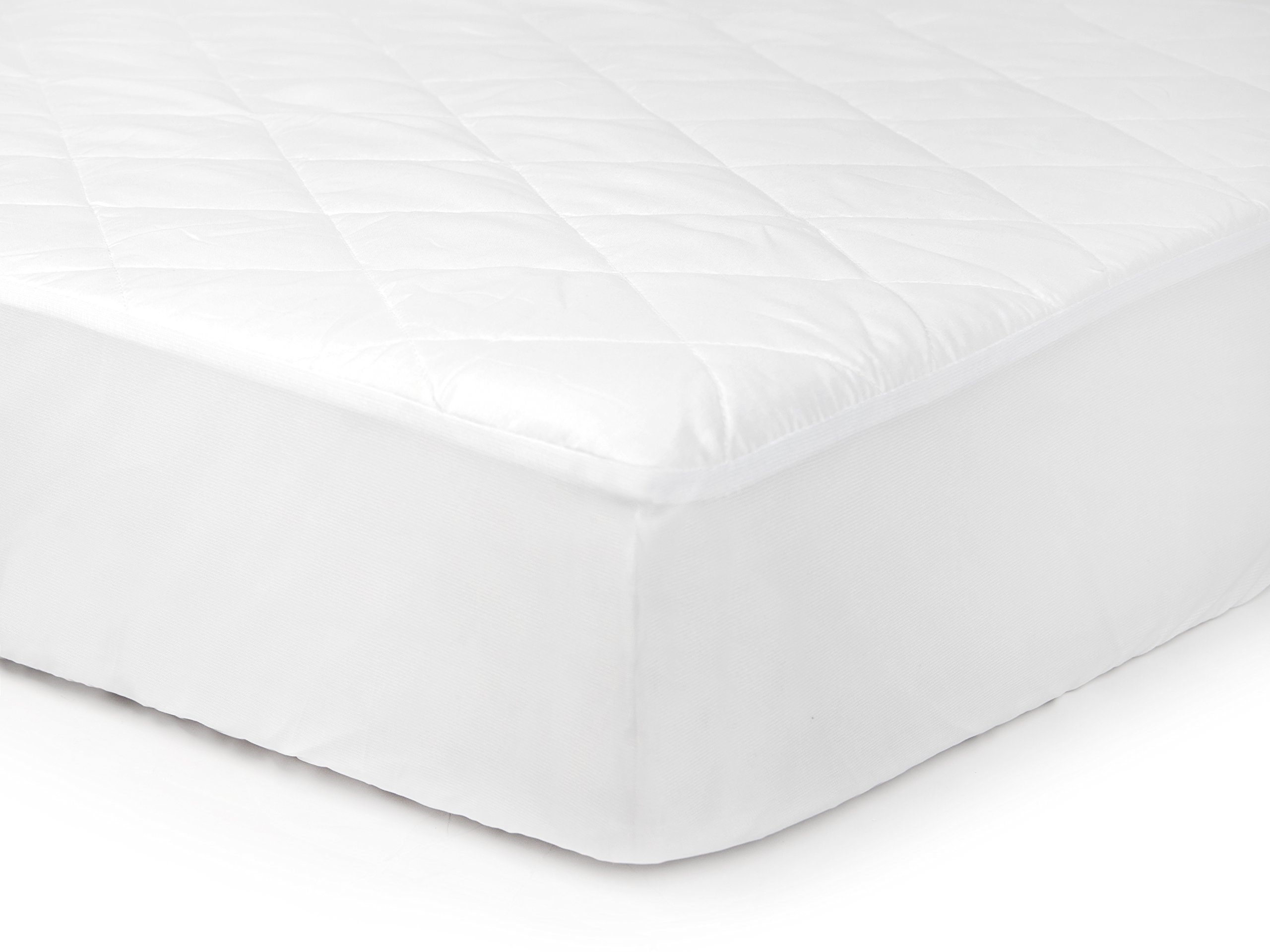 Tadpoles Waterproof Fitted Crib and Toddler Protective Mattress Pad Cover, White