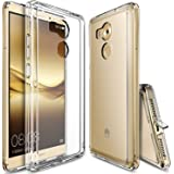 Huawei Mate 8 Case, Ringke [FUSION] Crystal Clear PC Back TPU Bumper [Drop Protection/Shock Absorption Technology][Attached Dust Cap] For Huawei Mate 8 - Clear