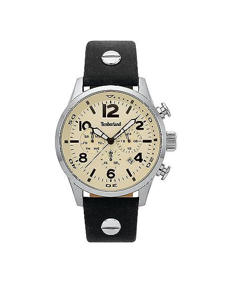 Timberland Reloj Multiesfera para Hombre de Cuarzo con Correa en Cuero TBL.15376JS/07: Amazon.es: Relojes