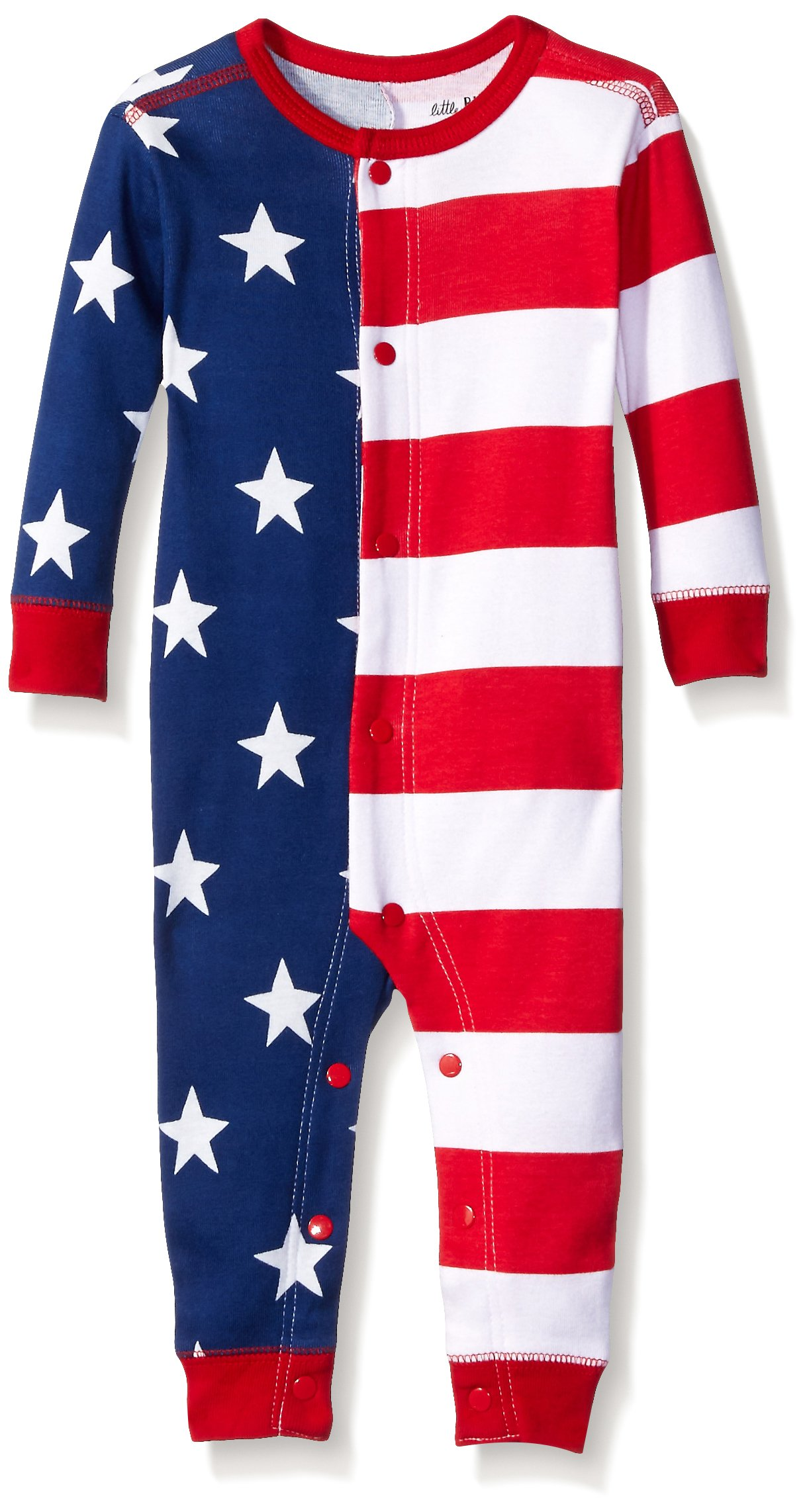 Little Blue House by Hatley Unisex Baby Union Suits, USA Flag, 6-12 Months by Little Blue House by Hatley