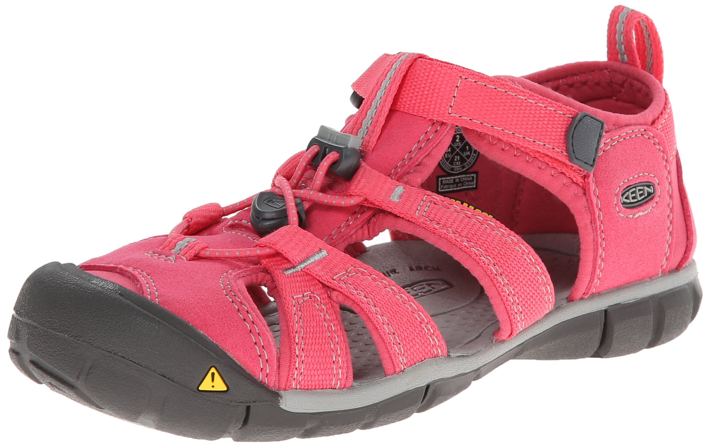 KEEN Seacamp II CNX Sandal (Toddler/Little Kid/Big Kid), HONEYSUCKLE/NEUTRAL GRA, 5 M US Big Kid by KEEN