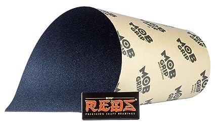 2329e616e2e Mob Skateboard Grip Tape Sheet Black 33 quot  Long X 9 quot  Wide - No  Bubble