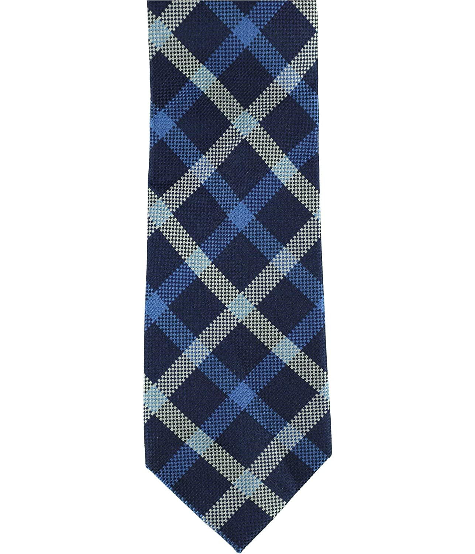 Tommy Hilfiger Mens Large Grid Self-Tied Necktie
