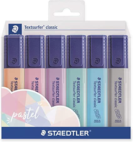 STAEDTLER 364 CWP6PAST Rotuladores Fluorescentes Textsurfer ...
