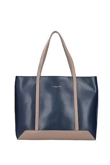 4d8731e6519ff Lancaster Tasche Nao 430-05-Bleup Tourt Damen Leder Handtasche Shopper  Schultertasche Tragetasche Blau