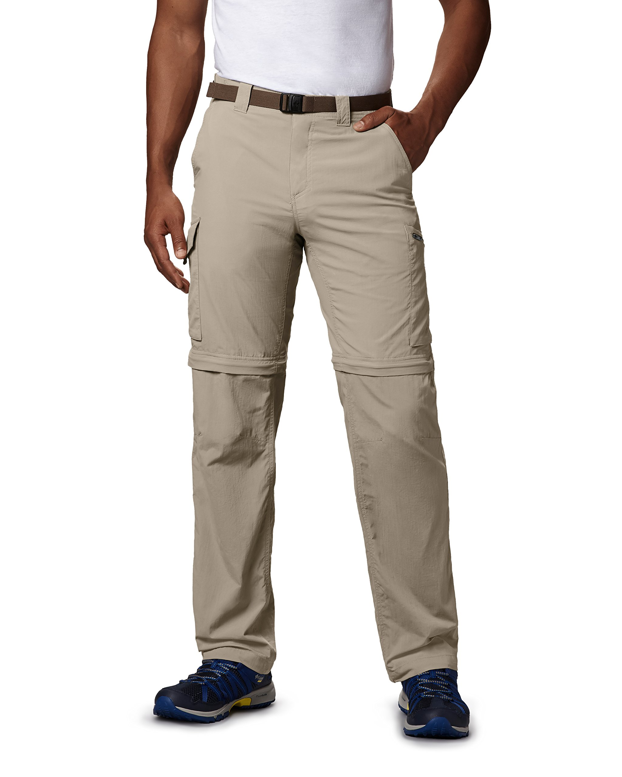 Columbia Men's Silver Ridge Convertible Pant, Breathable, UPF 50 Sun Protection, Fossil, 30x28