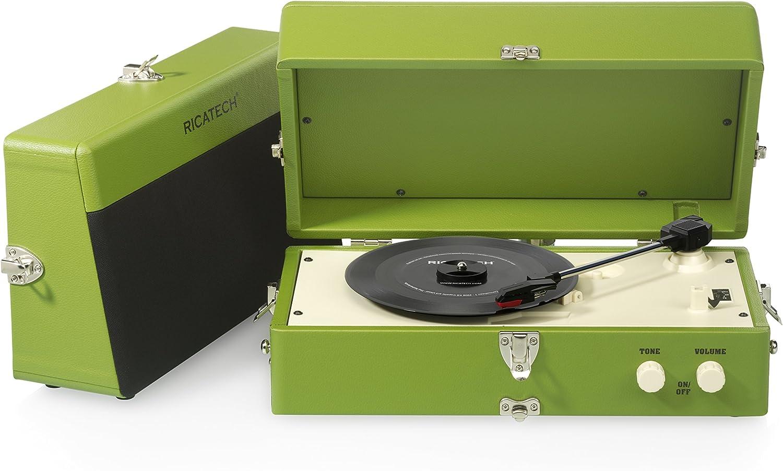 Ricatech RTT80 - Tocadiscos para Equipo de Audio, Verde: Amazon.es ...