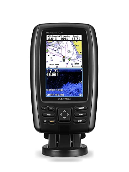 Image result for Garmin Echomap Chirp 44Cv with transducer