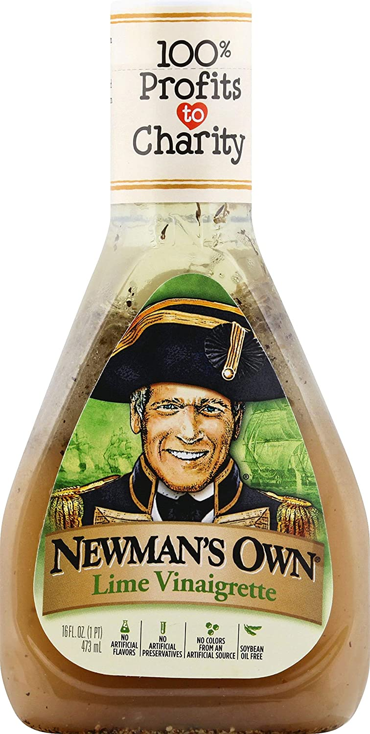 Newman's Own Lime Vinaigrette Salad Dressing, 16-oz. (Pack of 6)