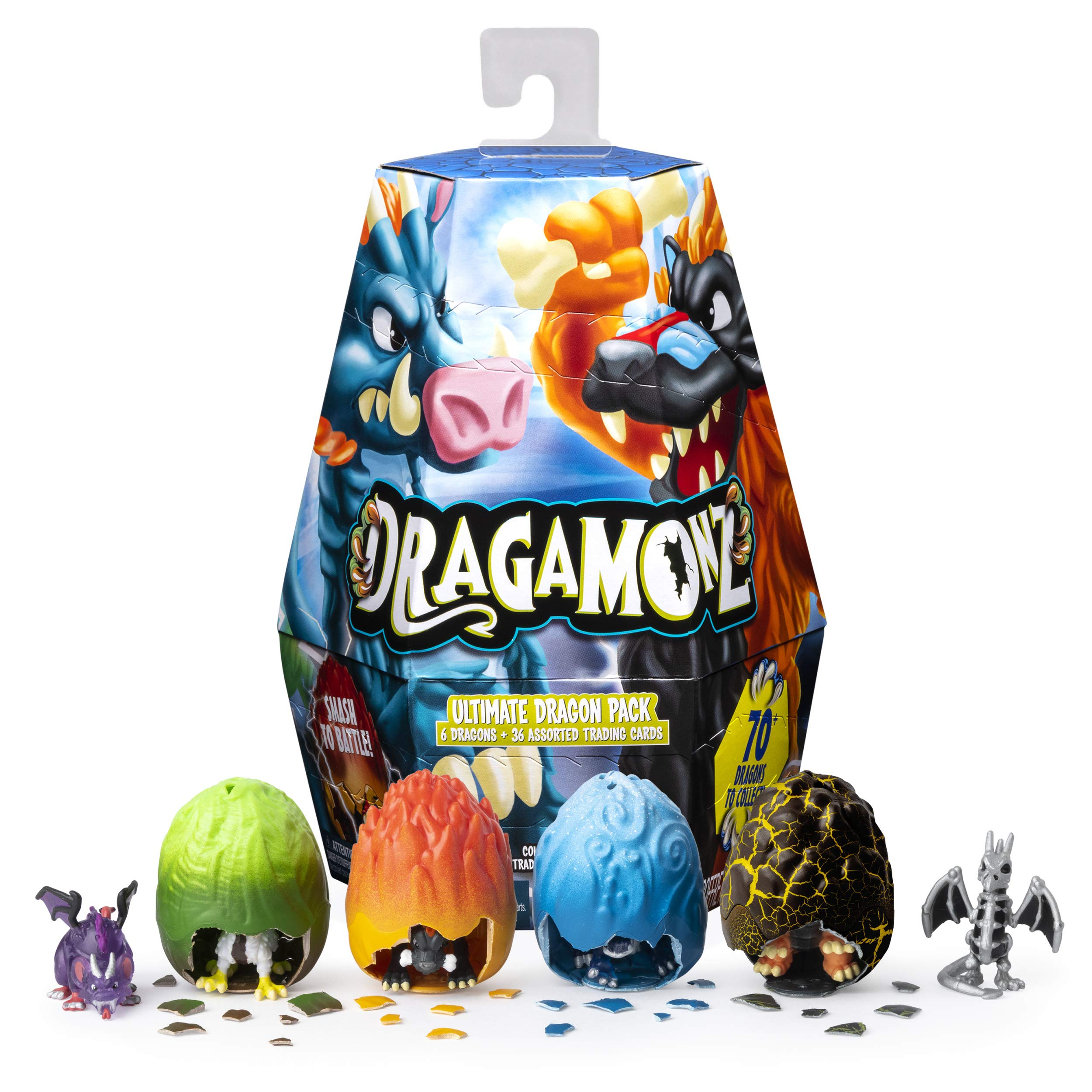 Dragamonz, Ultimate Dragon 6 Pack, Collectible Figure & Trading Card Game, for Kids Aged 5 & Up by Dragamonz