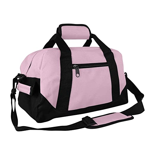 b163e3716d63 DALIX 14 quot  Small Duffle Bag Two Toned Gym Travel Bag ...