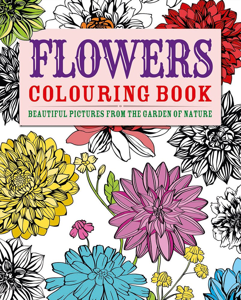 flowers coloring book beautiful pictures from the garden of nature