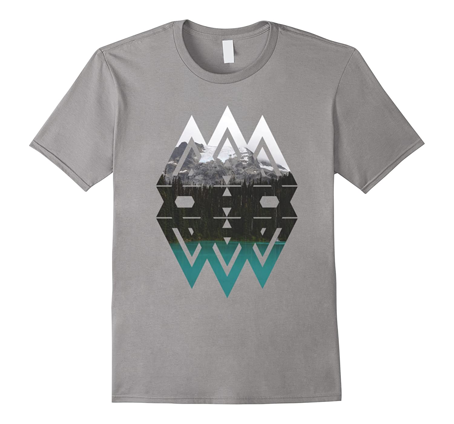 Beautiful Triangle Landscape T-Shirt For Art-BN