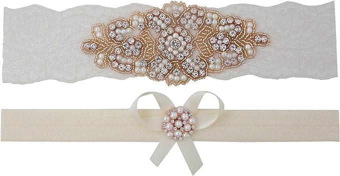 MONA Style-  Ivory lace garter set with vintage pink flower Wedding Garter Set Pick Your Colors bow and vintage button Bridal Garter Set