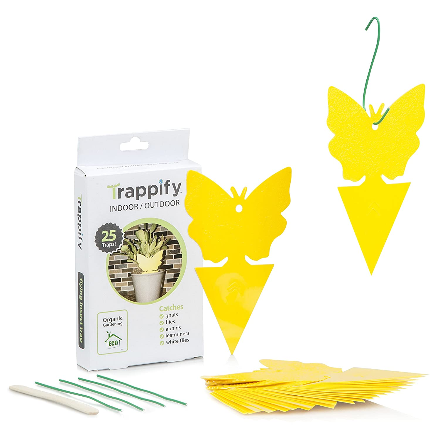 Sticky Bug, Fly and Gnat Trap: Yellow Dual Sided Glue Insect Catcher