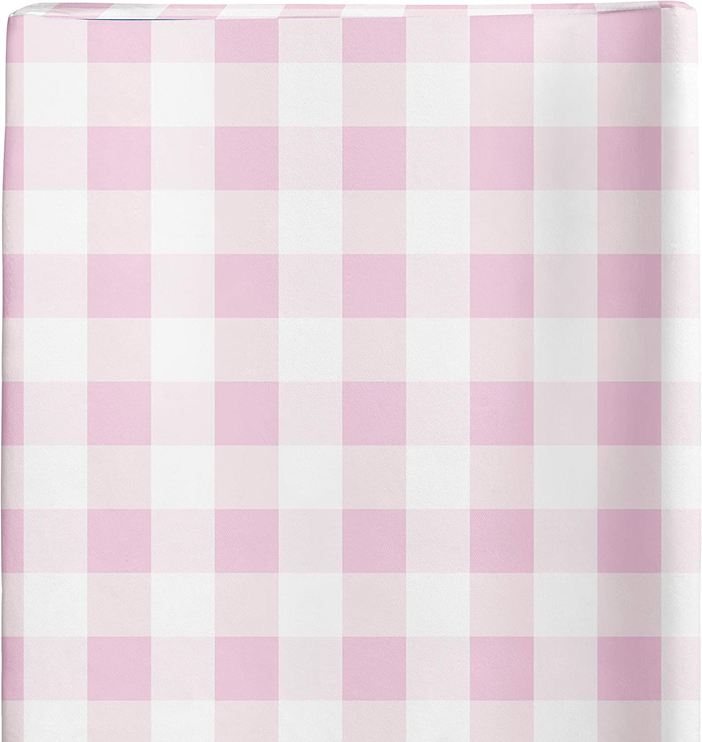 Baby Changing Table Covers for Girls Changing Pad Cover Girl Pink Gingham Plaid Farmhouse Nursery Decor by JLIKA