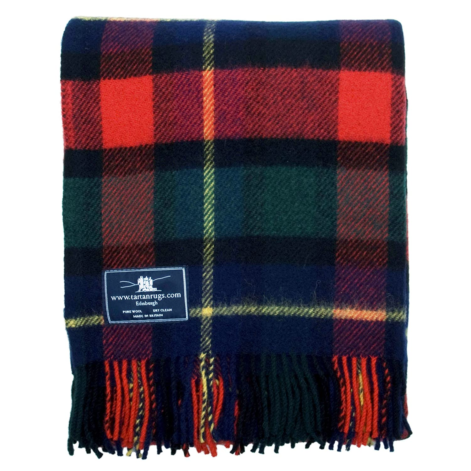 Kilgour Scot Tartan Premium Pure Wool Throw Blanket