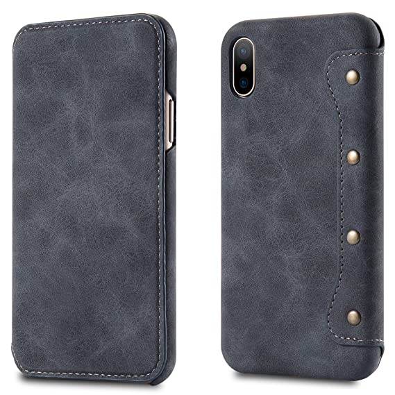 separation shoes 009ec 845d9 Amazon.com: for Apple iPhone X Case [Simple Luxury] PU Leather Cell ...