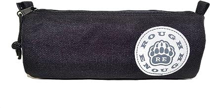Estuche escolar pequeño, con diseño «Rough Enough» y logotipo, color negro: Amazon.es: Oficina y papelería
