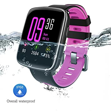 Montre Connectée pour iPhone et Android, Bluetooth Smartwatch étanche IP68 Montre Fitness Montre Sport (