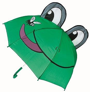 Idena 7860021 - Paraguas infantil diseño de rana (diámetro de 94 cm) [Importado