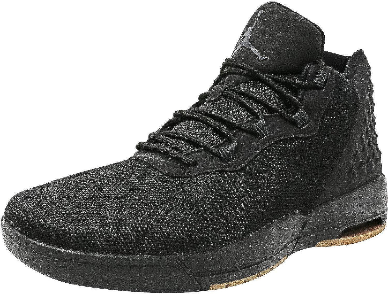 Nike Mens Jordan Academy Black//Anthracite-Gum Medium Brown Ankle-High Fabric Fashion Sneaker 9.5M