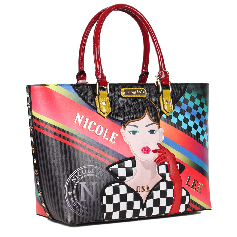 Nicole Lee Mujer RAC12268-RAC Bolsa para compras com impresión de niña corriendo Talla única: Amazon.es: Zapatos y complementos