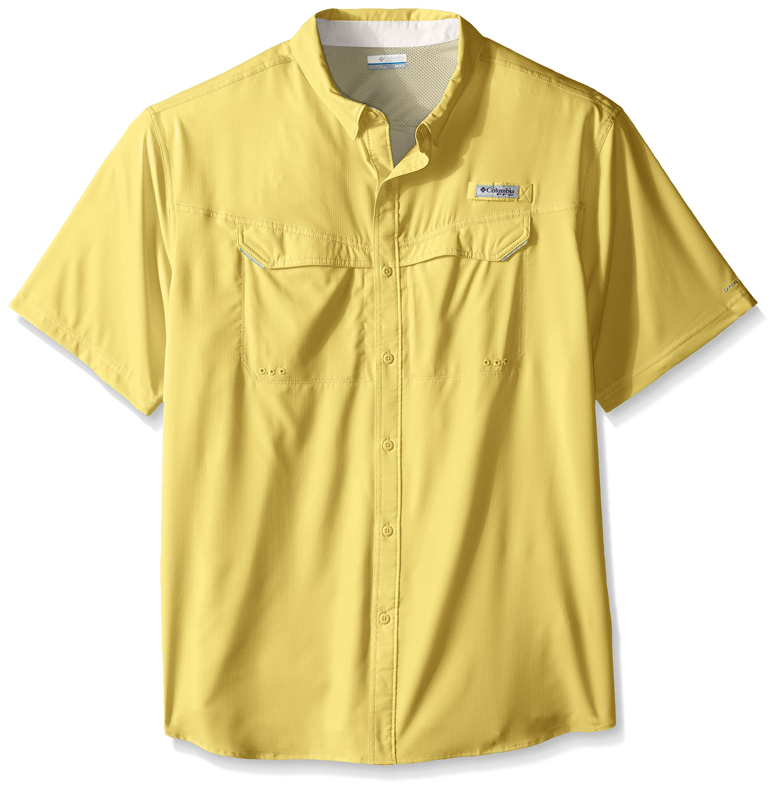 Columbia Men's Low Drag Offshore Short Sleeve Shirt, Sunlit, 4X