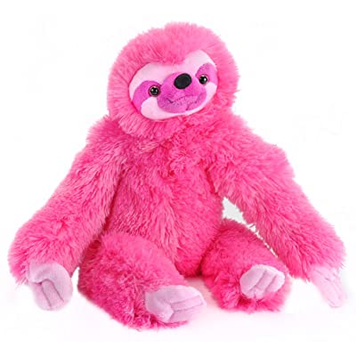 "Wild Republic Three-Toed Sloth Plush, Stuffed Animal, Plush Toy, Gifts For Kids, Pink, Cuddlekins 12"": Toys & Games"