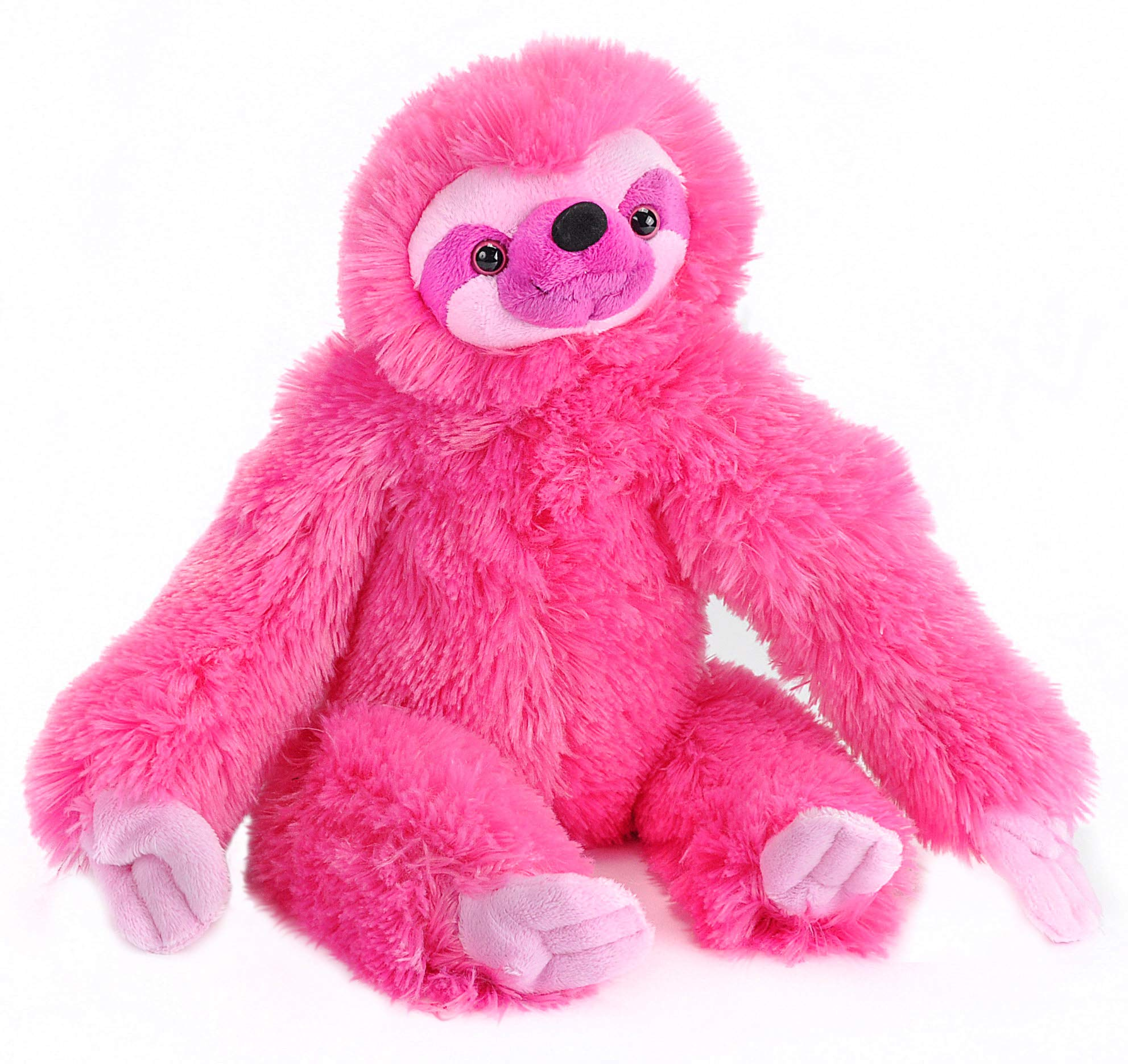 "Wild Republic Three-Toed Sloth Plush, Stuffed Animal, Plush Toy, Gifts For Kids, Pink, Cuddlekins 12"""
