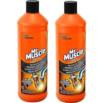 Mr Muscle - Forza Desatascador Gel Power, limpia tuberias, 2 Unidades 2000 ml