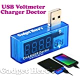 Gadget Hero's USB Charger Doctor, Current Voltage Meter With Display.
