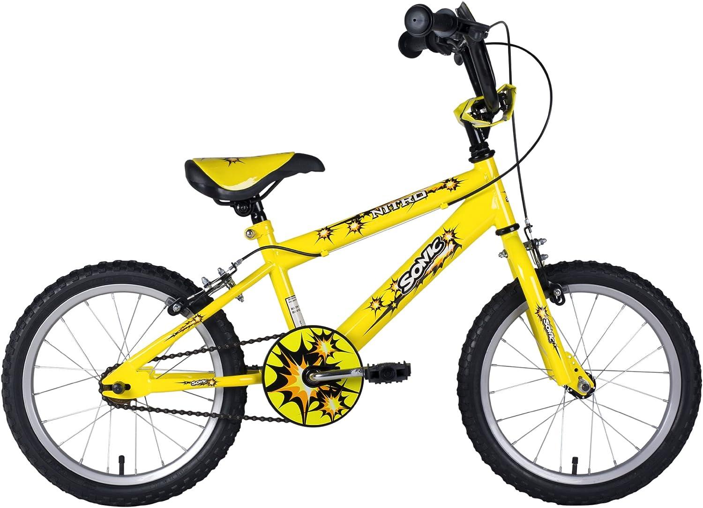 Sonic Nitro Junior - Bicicleta infantil, tamaño 16 Inch, color amarillo: Amazon.es: Deportes y aire libre