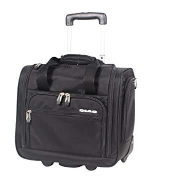 Amazon.com | Ciao Carry On Wheeled Under The Seat Bag (Black ...