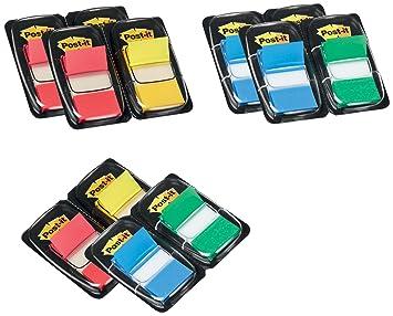 Post-it Index - Dispensador de banderitas separadoras (12 x 50 unidades, 43