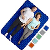 Royexe Heavy Duty Double Camping Mat | Ultra Thick Inflatable Sleeping Pad | 2 Person Compact Bed for Backpacking and Hiking | Compact Sleeping Bag Air Mattress