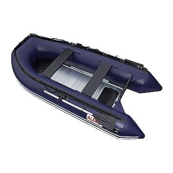ALEKO hinchable barco azul 10,5 pies suelo de aluminio 4 ...