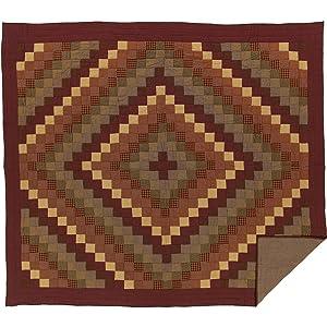 VHC Brands Rustic & Lodge Primitive Bedding - Heritage Farms Red Quilt, King, Burgundy