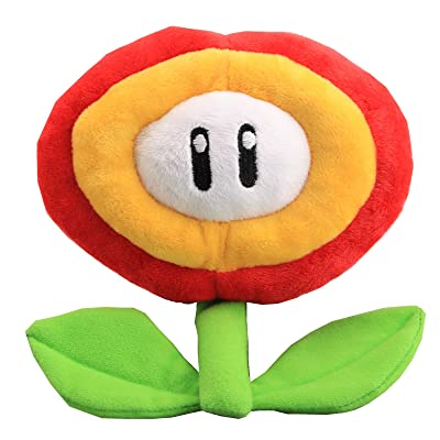 uiuoutoy Super Mario Bros. Fire Flower Plush 7'': Toys & Games