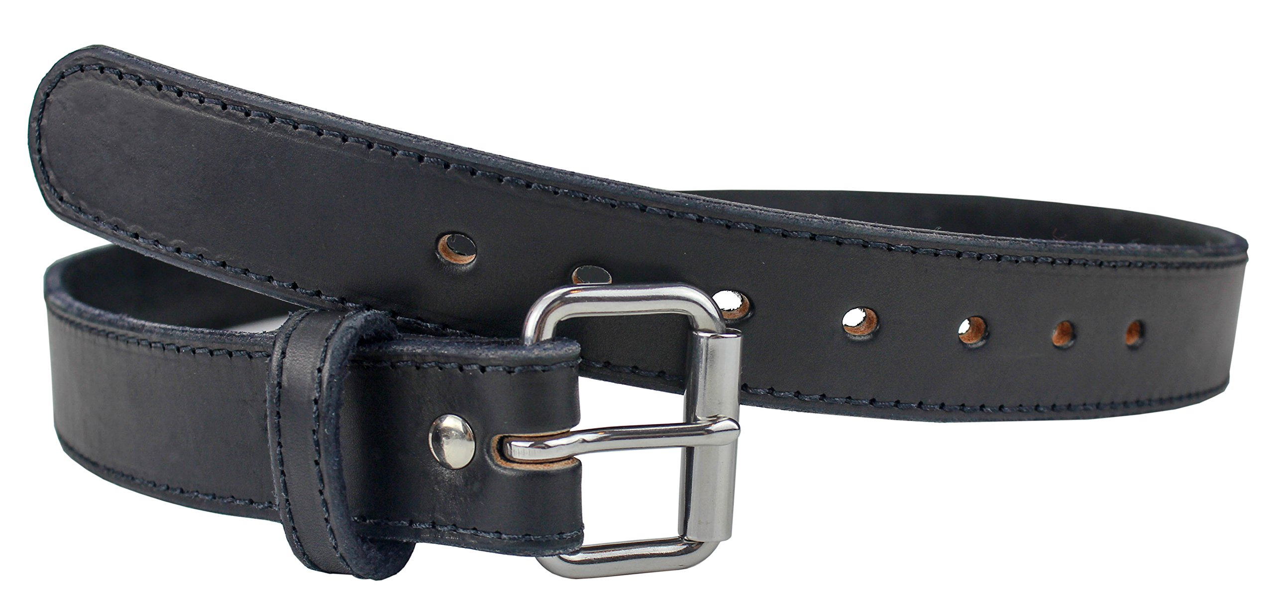 The Ultimate Steel Core Gun Belt | Concealed Carry CCW Leather Gun Belt With Steel Insert | Made in the USA | The Toughest 1 1/2 inch Premium Heavy Duty Leather Gun Belt | Black 32