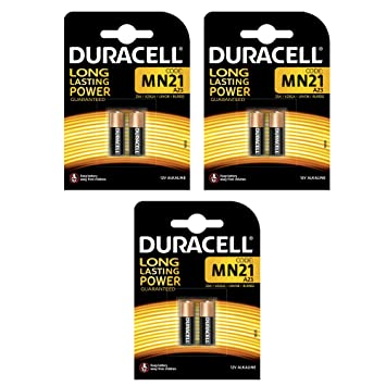 Duracell MN21 - Pilas de seguridad para alarmas y mandos (2 unidades) 3 Paquetes