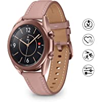 Samsung Galaxy Watch 3 Smartwatch Bluetooth, behuizing 41 mm staal, armband leer, verzadigingsmeter, valherkenning…