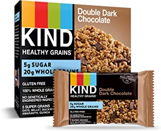 product image for KIND Healthy Grains Bars, Double Dark Chocolate, Gluten Free, 1.2 oz, 5 Count (6 Pack)